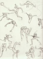 Action Fighting Poses 2 by Jinju101