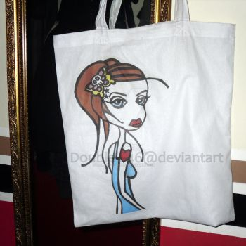 Tattoo Girl Tote Bag by Double-L-46