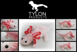 Medium Pink Axie Plush by Tylon