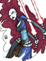 Asajj Ventress Marker Drawing by grantgoboom