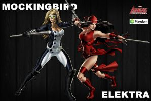 Elektra and Mockingbird by icequeen654123