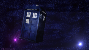 TARDIS - wallpaper 1366x768 by MissCath