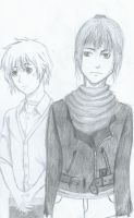 Shion And Nezumi by crystalbluedisguise