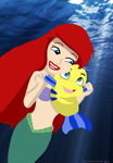 Ariel and Flounder. by TMNTISLOVE