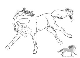 Bucking Horse Lineart-Free Use by RejectAll-American