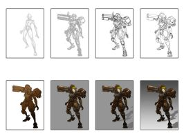 Mecha Babe Tutorial by KWONG