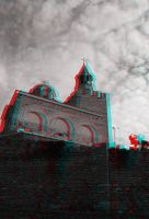 Church anaglyph by mrkane27