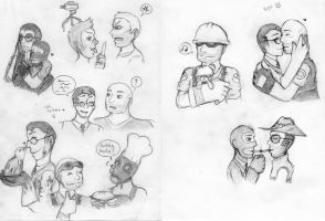 more tf2 doodles by Tarulimint
