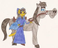 KaTP - Me and my pet horse, Beauty from Dreamland by Magic-Kristina-KW