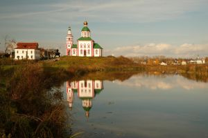 Landscape with the solitary church. October... by Nickdan