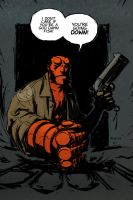 Hellboy colour by FlowComa
