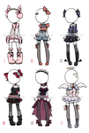 Outfit Adoptables#1 ::OPEN (4/6) 2 left! by KimmyPeaches