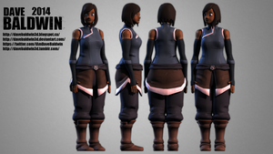 Avatar Korra Character Model by DaveBaldwin3D