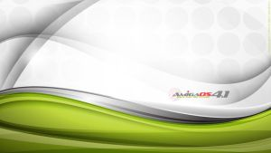 Amiga OS 4 Full HD Abstract Green Lines Wallpaper by djnick2k
