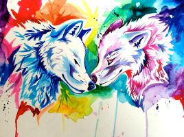 Two Rainbow Wolves- Holiday Giveaway by Lucky978
