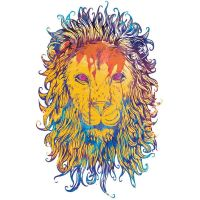 Royal Blood Neon Lion Shirt by Design-By-Humans