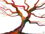 Red and Green Tree by Justine-Ehlers