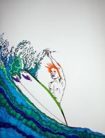 Surfing Ginger by careuhox