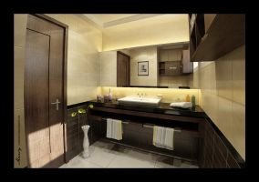 Utaibi House BathRoom interior by mohamedmansy