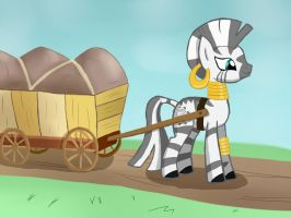 Zecora Arrives by WerdKcub