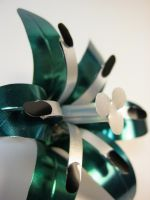 Soda Can Hairclip: Blue-Green by Christine-Eige