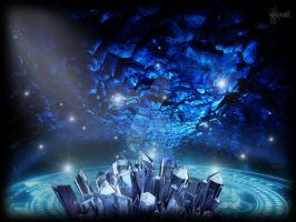 Magic Crystal Cave ... by elyadthepain