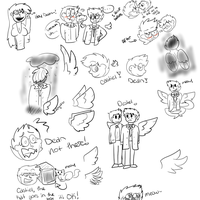Destiel doodles by BlueandIce