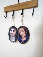 Erik and Christine key chain by poperart