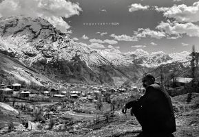 Kurdish Ahmed and Mount Sumbul by oscarsnapshotter