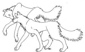 Flying and Walking Wolf Lines by trisomy
