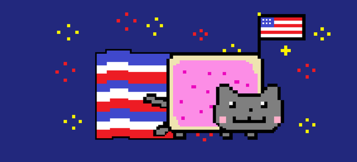 Nyan cat 4th of july special. by Omasinator