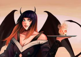 Smiling Succubus by rodmendez