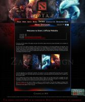 DotA 2 Web Design v1.0 by zadelim