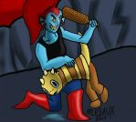 Paddle of justice [UndyneXMonster Kid] [Read desc] by Merilaux