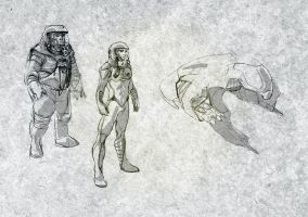 Study for a space pilot by DrManhattan-VA