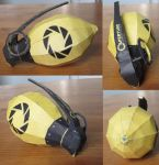 Combustible Lemon Grenade Papercraft by minidelirium