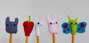 More pencil toppers by slumbergirl