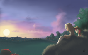 sunset at sweet apple acres by zlack3r
