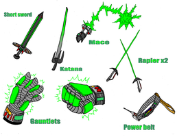new transformation weapons by Redflare500