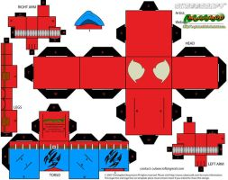 Scarlet Spider cubeecraft by MysterMDD