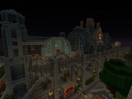 [Minecraft] Steampunk City by SquidEmpire