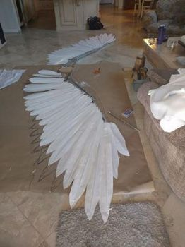 WIP 16 ft articulating wings by TheGriffinQueen