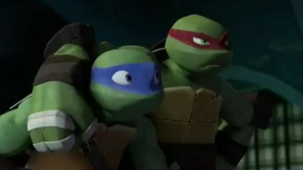 TMNT Leo and Raph - it's good to have you back Leo by Diamondt810