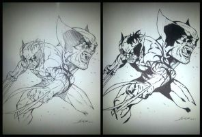 DARK WOLVERINE - STYLE TEST - INK by Kamiu