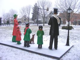 Snow Carolers Family 2 by OsorrisStock