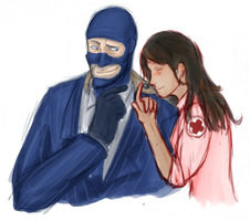 A spah, A lizard, and a medic by happysmily