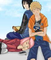 Naruto- Team 7 Triangle by Immature-Child02