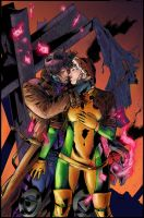 Gambit and Rogue by JulienHB by Tadpole7