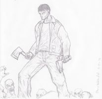 Zombie Survivor Quick Sketch by Steel-Raven