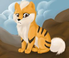 Growlithe by thecayte